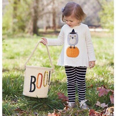 Mud Pie H7 Halloween Girl Hallowen Owl Tunic & Legging Set 1112365 Choose Size](Mudpie Halloween)