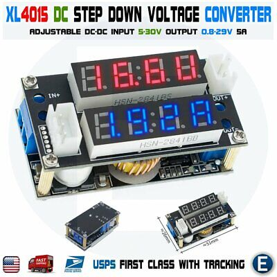 Xl4015 5a Adjustable Cccv Step Down Voltage Charge Module Led Panel Voltmeter