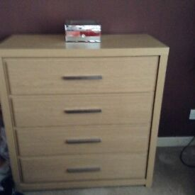 Next oak chest of drawers
