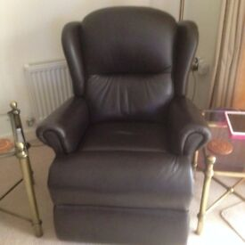Sherbourne Malvern Lift & Rise Leather Recliner