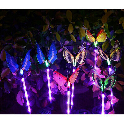10x Solar Power Butterfly Home Yard Garden Stake 7 Color Changing LED Lamp