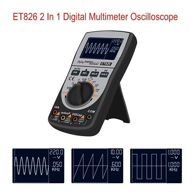 2in1 Et826 Intelligent Digital Oscilloscope Multimeter Acdc Meter W Analog Bar
