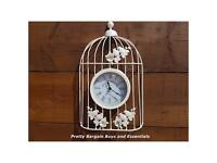 Vintage Birdcage Outdoor Clock