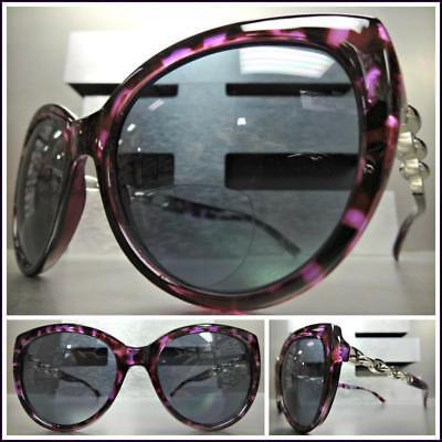 Damen Retro Cat Eye Stil Biofokal Sonnenbrille Lesebrillen Lila Schildpatt Frame