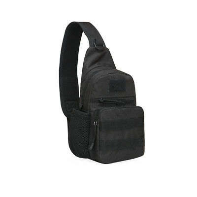 Outdoor Tactical Military Sling Chest Bag Shoulder Pack Daypack Crossbody Black