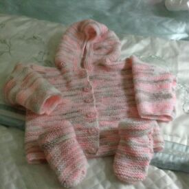 New Hand Knitted hooded jackets