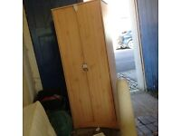 Wardrobe with two door wood colour free to collector