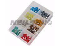 80 piece Car / Van Mini Blade Fuse Kit 2-5 - 7.5 - 10 - 15 - 20 - 25 - 30 AMP