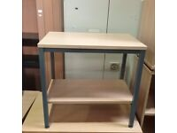 Light oak effect desk with shelf