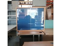 Glass fronted notice/ display board cabinet