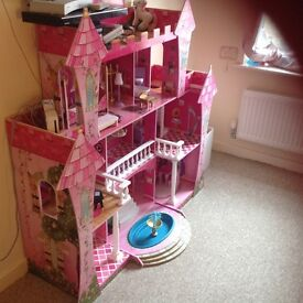 Large wooden barbie house