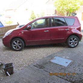 2011 Nissan Note, 35849 miles, MOT Sept. Beautiful runner, all standard features, good insurance