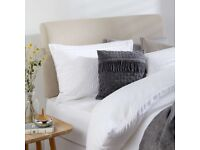 Like-new John Lewis king sized bed set: ortho mattress with matching divan and headboard