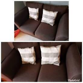 Brown 2seater sofa