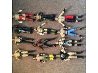 12 WWE figures