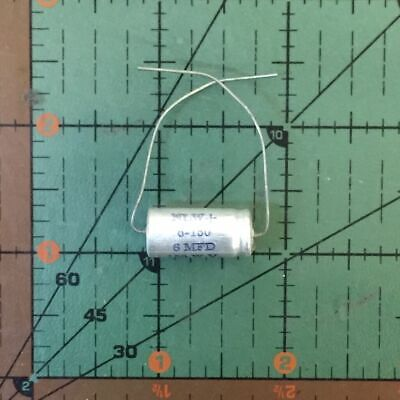6uF 150v Axial Cornell Dubilier Electrolytic Capacitor NLW6-150 Industrial 105'c