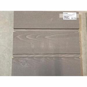 Revêtement extérieur en bois embouveté moderne - gris