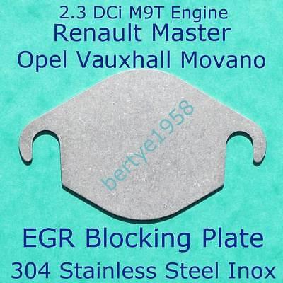 EGR Valve Block Plate Renault Master 2.3DCi 2298cc M9T Vauxhall Opel Movano