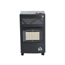 NEW HOMCOM 4.2KW Calor Gas Heater Cabinet Portable Propane Furnace Butane Regulator Hose w/ Wheels