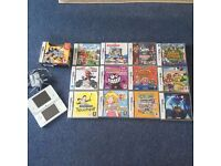Nintendo DSi (white) with charger and 12 games