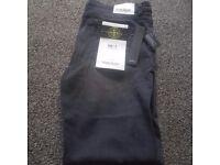 Mens black stone island jeans