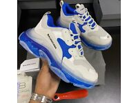 Blue with white triple s trainers sizes 3-12