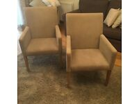 2x Next Chairs with arm rest