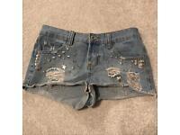 Women's Studded Shorts - Size 6