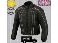 Men's DryLite Cordura Motorbike Motorcycle Jacket Wind/ Waterproof CE Armours