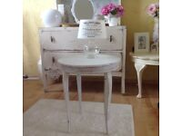 Beautiful shabby chic / vintage music box table / side table