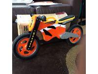 Kids Wooden Hondee Balance Bike - Repsol Honda Style