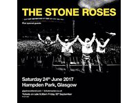2 x Stone Roses Tickets for Hampden June 2017 (close to stage)