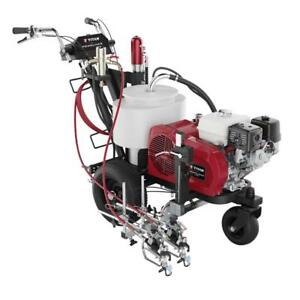 Year End Sale TITAN POWRLINER 4955 2 GUN PARKING LOT LINE PAINTING STRIPING MACHINE ASPHALT PAINT SEALING WATER GRACO
