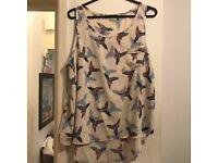 Primark Bird Pattern Top - Size 18
