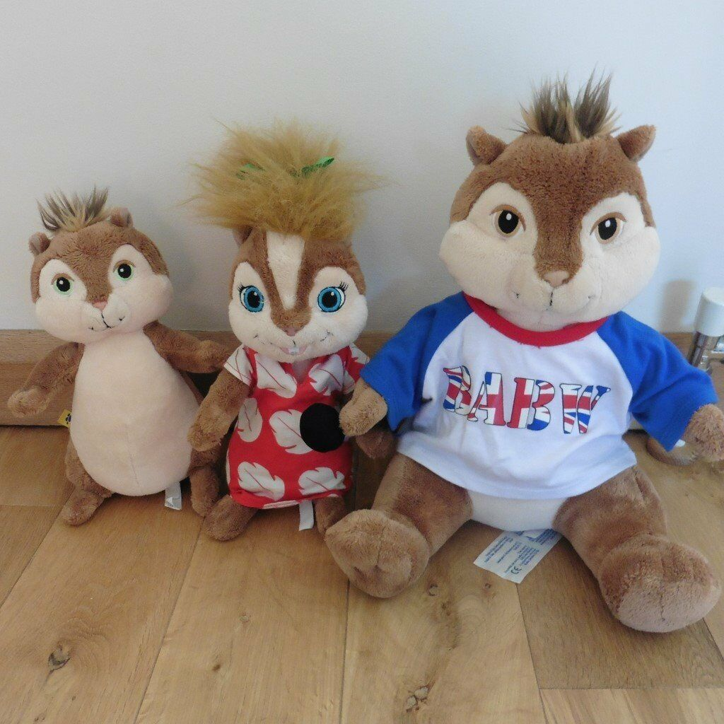 Alvin And The Chipmunks Alvin And Brittany alvin & the chipmunks build a bears plus accessories (alvin, brittany &  theodore) | in capel st mary, suffolk | gumtree