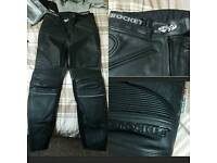 🚴 Stunning JOE ROCKET Women's Leather Motorcycle / Motorbike Trousers Size 10 SCOTCHLITE 3M