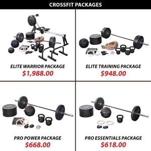 Weightlifting Powerlifting Plate Rings Rower Training Bundle Crossfit Package Set Weight Kettlebell Barbell Olympic