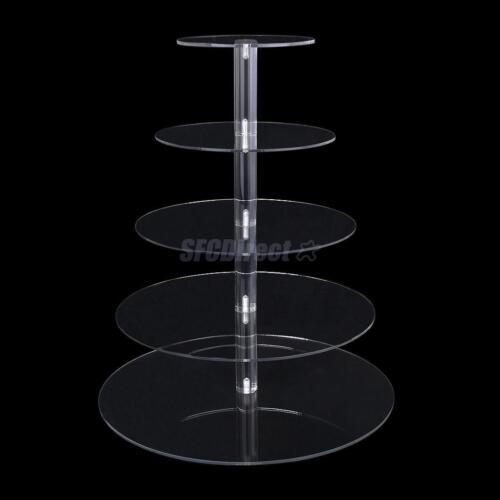 3/4/5/6/7 Tier Acrylic Round Cupcake Wedding Party ...
