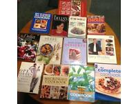 Assortment of books on cooking and baking