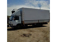 Left hand drive Iveco Turbo Zeta 7.5 Ton curtainsider. On springs suspension.