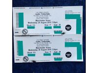 ** JUSTIN TIMBERLAKE X 2 **29th August exc seats lower tier!!! Manchester