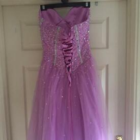 Prom dress size 12 with adjustable back