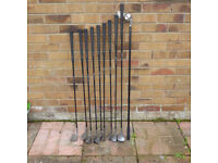 Sundridge Low Torque R Golf set - Irons 4-9,PW. Long Distance Graphite Recovery Woods 1 and 7