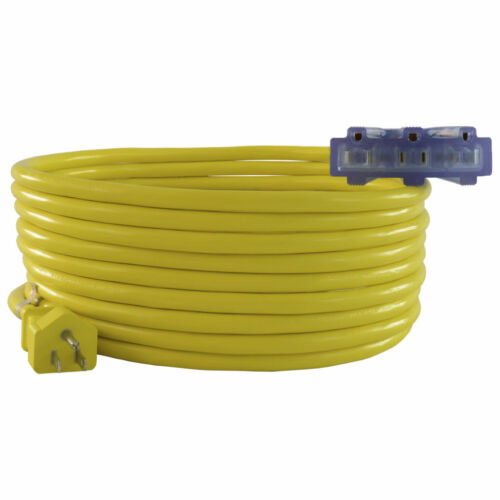 Conntek 12/3  Multi Outlet Outdoor Extension Cords >2ft to 100ft<  UL Listed