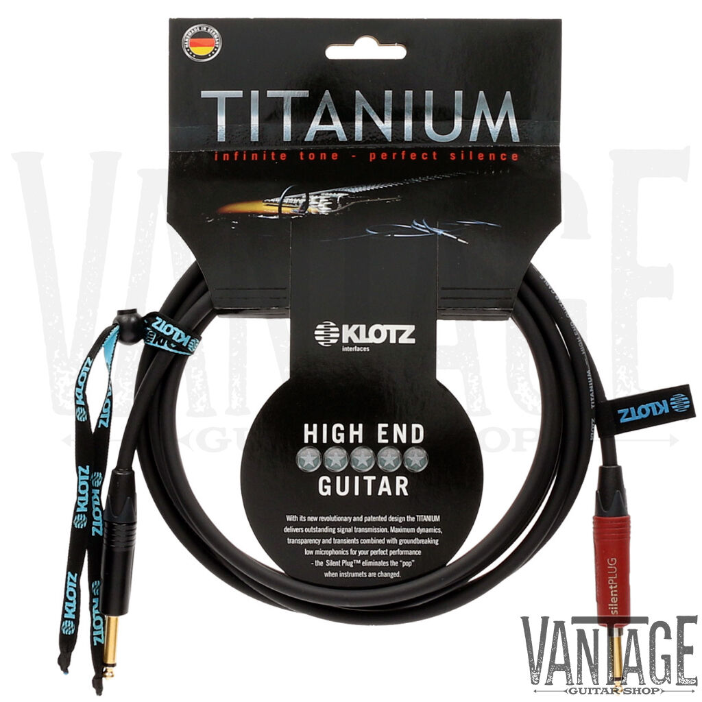 STRAIGHT SILENT PLUG TO STRAIGHT END MOGAMI 2524 15 FT GUITAR CABLE