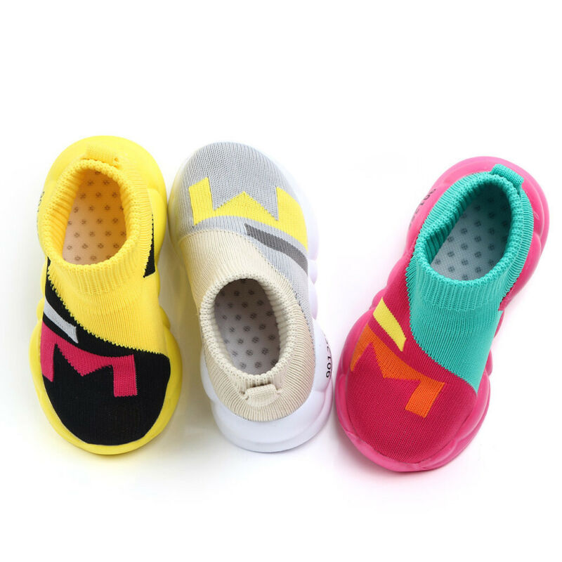 Toddler Infant Kids Girls Boys Sole Knitted Shoes Sneakers