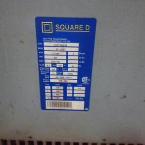 Square D Transformer 112 KVA 600-208Y/120 Volts