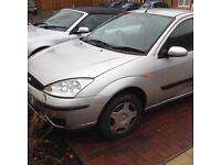 2003 Ford Focus 1.4cc studio 3-door met silver 100k long mot new tyres/brakes drives perfect £495