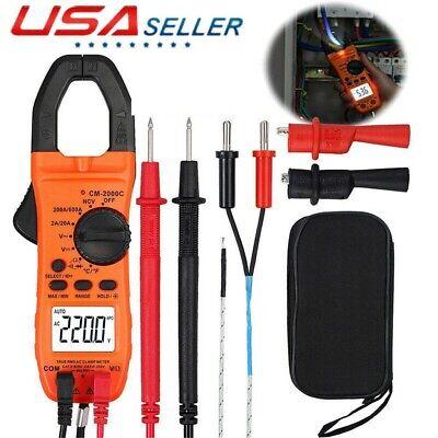 Digital Multimeter Ncv Acdc Voltage Current Resistance Clamp Meter Tester Usa