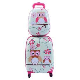 Children's Owls Backpack Luggage Suitcase Set BG49863